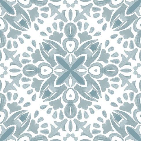 RoomMates Amalfi Peel & Stick Floor Tiles Green - image 1 of 3