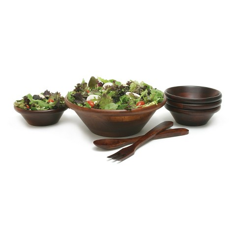 Lipper International Cherry Finished Salad Set with 12in Servers - 7-pc - image 1 of 2