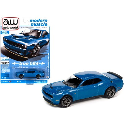 "2019 Dodge Challenger R/T Scat Pack B5 Blue Metallic ""Modern Muscle"" Ltd Ed 14704 pcs 1/64 Diecast Model Car by Autoworld"