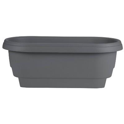 """9"""" Indoor/Outdoor Oval Planter Gray - Bloem"""