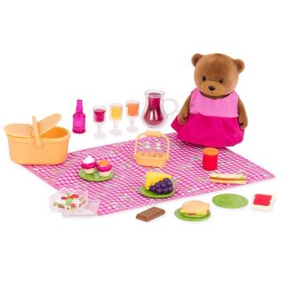 Li'l Woodzeez Miniature Playset with Animal Figurine 29pc - Picnic Set