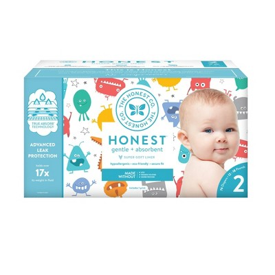 The Honest Company Mini Monsters Club Pack Diapers - Size 2 (76ct)