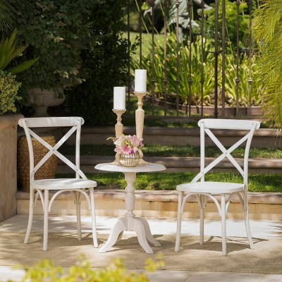 Danish 3pc Nylon Chat Set - French White - Christopher Knight Home