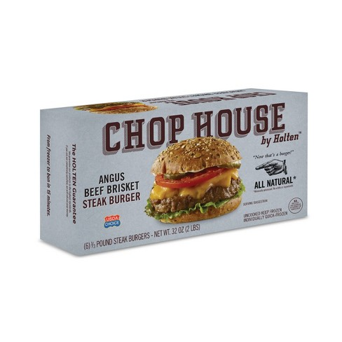 Chop House by Holten Angus Brisket Frozen Steak Burgers - 6ct/2lbs - image 1 of 1