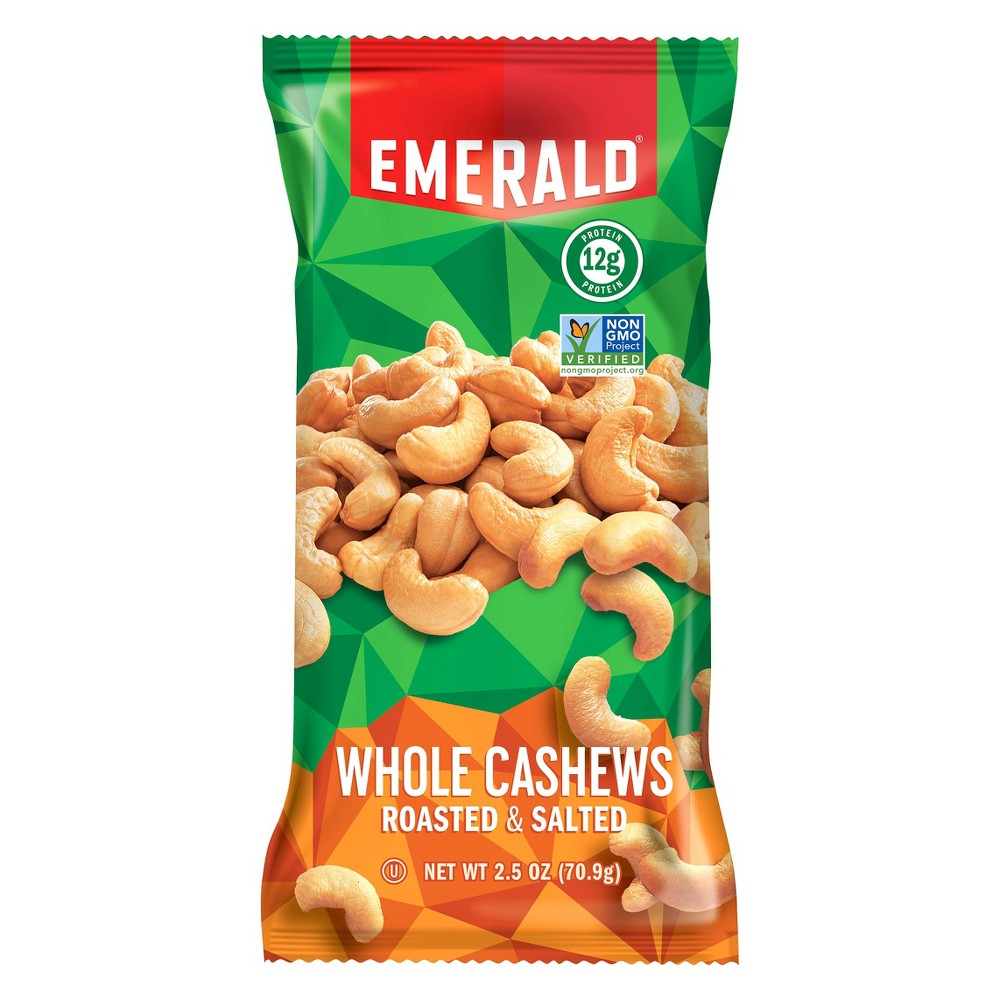 Emerald Roasted & Salted Whole Cashews - 2.5oz