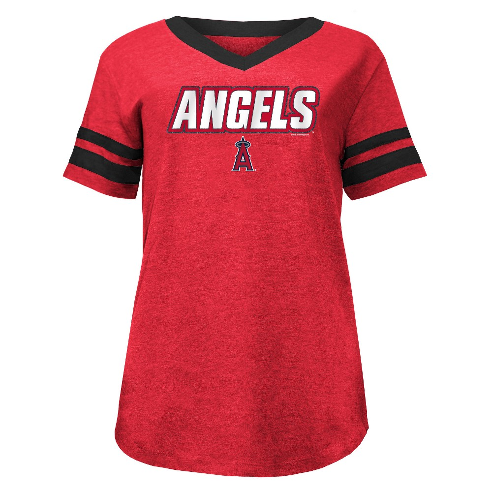 Los Angeles Angels Women's Pride Heather T-Shirt - M, Multicolored