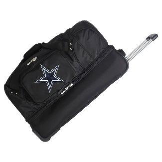 NFL Dallas Cowboys Mojo 27u0022 Rolling Drop Bottom Duffel Bag