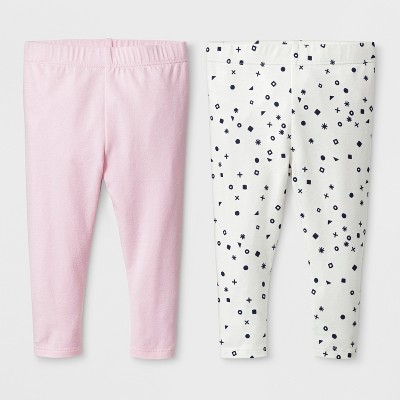 Baby Girls' 2pk Leggings Set - Cat & Jack™ Woodrose 6-9M