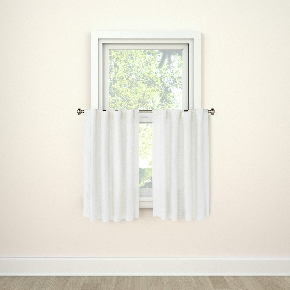 Image of Curtain Tier Honeycomb White - Threshold
