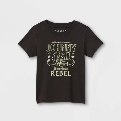 Toddler Boys' Johnny Cash Rebel Short Sleeve Graphic T-Shirt - Black