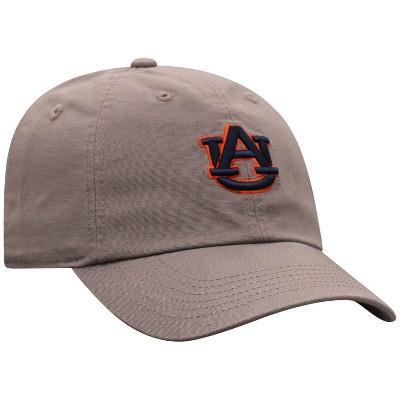 NCAA Auburn Tigers Men's Gray Garment Washed Canvas Hat