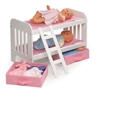 Badger Basket Doll Bunk Bed With Ladder And Two Target