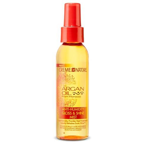 Creme of Nature Argan Oil Anti-Humidity Gloss & Shine Mist Hair Glosses - 4oz - image 1 of 3