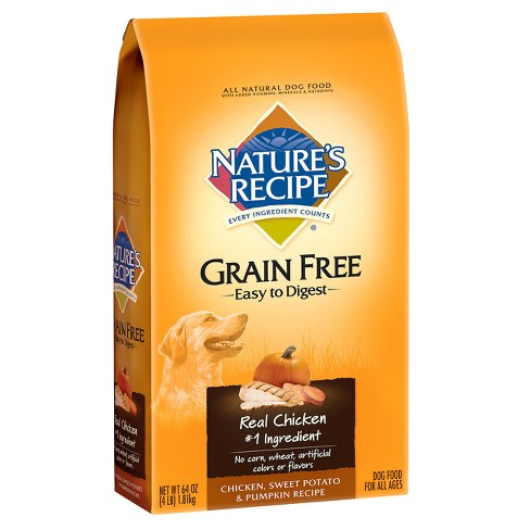 Nature's Recipe Grain Free Easy to Digest Chicken Sweet Potato & Pumpkin Recipe Dry Dog Food - image 1 of 2