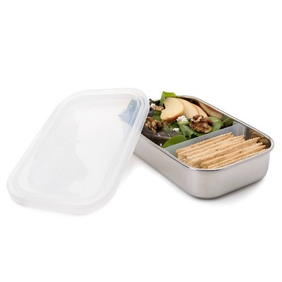 U-Konserve Stainless Steel Food-Storage Container Bento Rectangle 25oz - Clear Plastic Lid