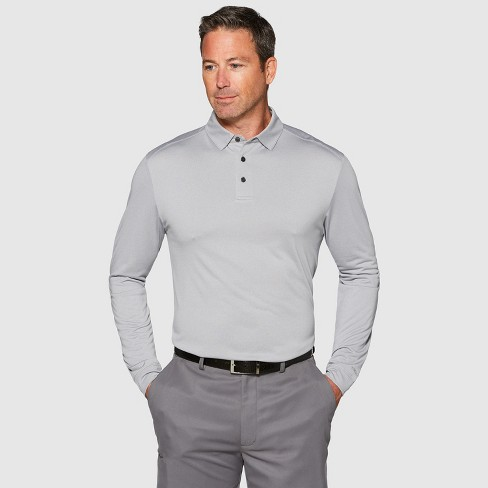 Jack Nicklaus Men's Long Sleeve Golf Polo Shirt - image 1 of 2