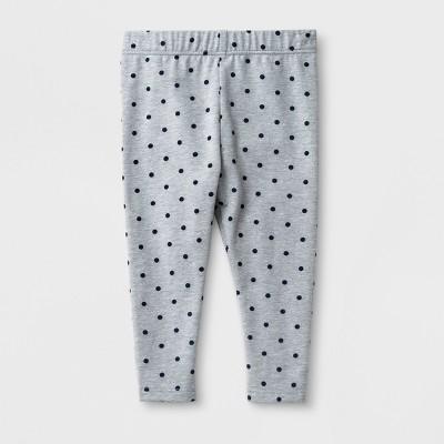 Baby Girls' Leggings - Cat & Jack™ Gray Dot Newborn