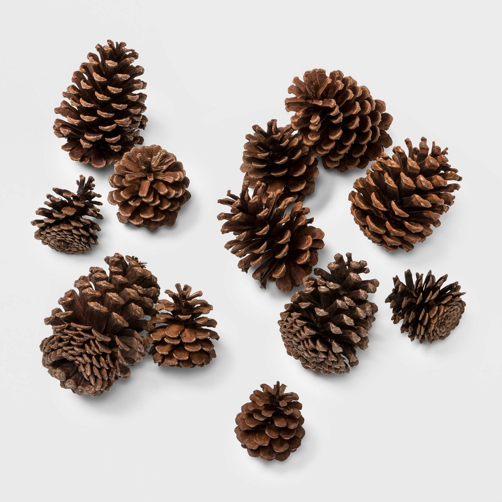 Image of 12ct Cinnamon Scented Artificial Christmas Pine Cones - Wondershop , Brown