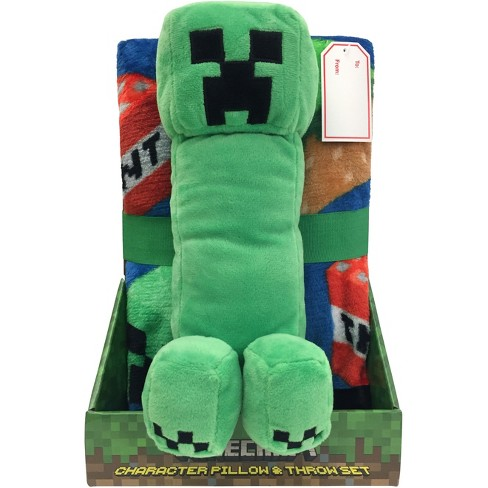 Minecraft Throw Pillow Green - image 1 of 1