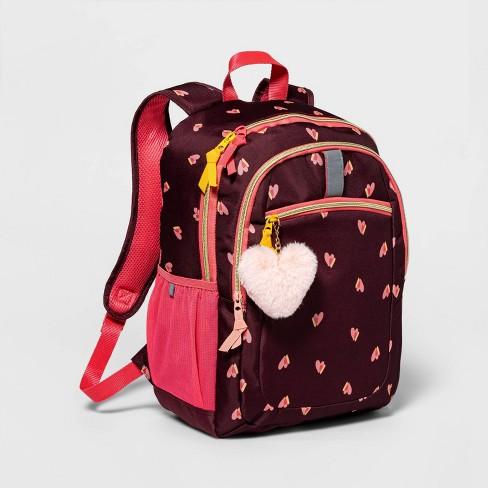 "17"" Kids' Backpack Maroon Heart - Cat & Jack™ - image 1 of 2"