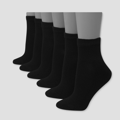 Hanes Premium 6 Pack Women's Cushioned Ankle Socks - 5-9