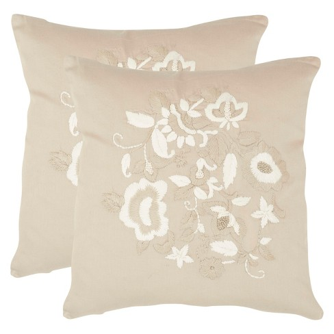 Beige April S/2 Throw Pillow - Safavieh® - image 1 of 1