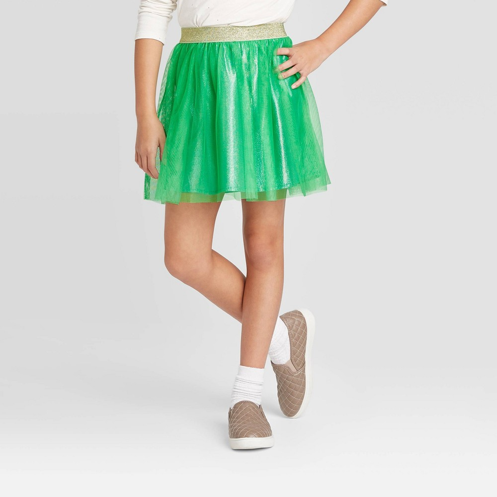 Image of Girls' St. Patrick's Day Shine Tutu - Cat & Jack Green L, Girl's, Size: Large