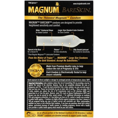 How long is a magnum condom