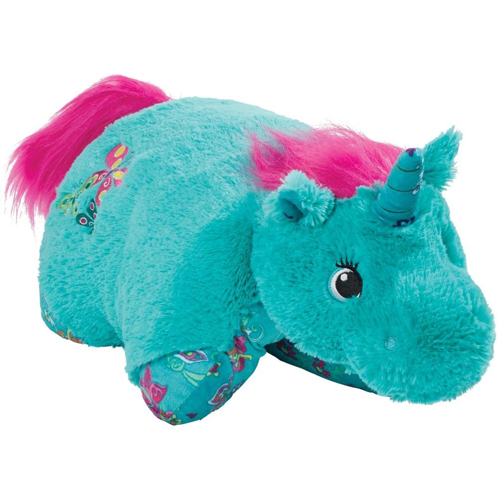 Teal (Blue) Unicorn Pillow Pet