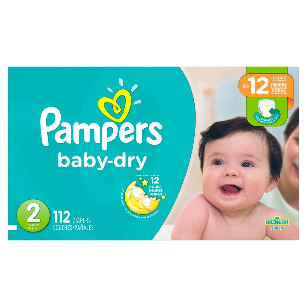Pampers Baby Dry Diapers Super Pack Size 2 (112 ct)