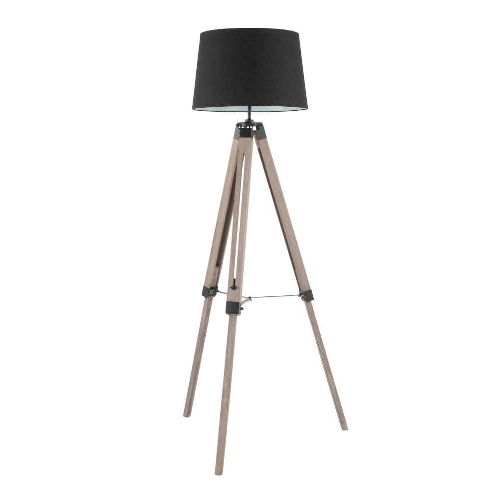 Image of Compass Mid - Century Modern Floor Lamp Gray (Lamp Only) - LumiSource