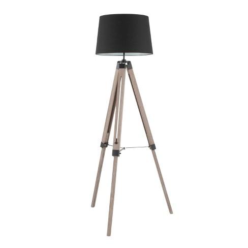 Compass Mid - Century Modern Floor Lamp Gray  - LumiSource - image 1 of 4