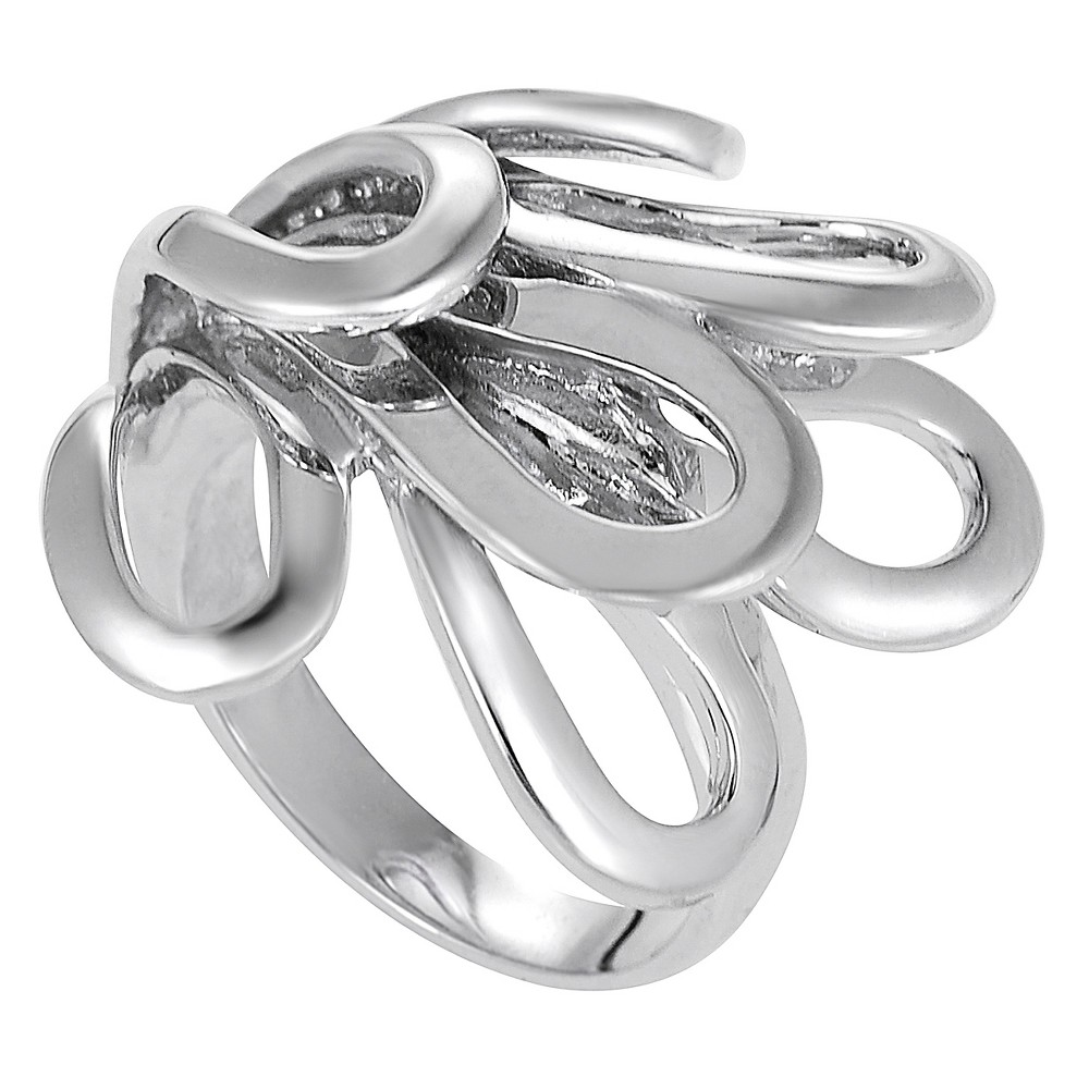 Women's Journee Collection Fashion Loop Ring in Sterling Silver - Silver, 8