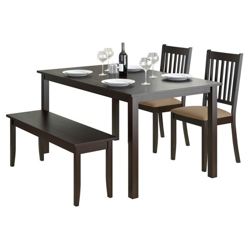 Atwood 4 Piece Dining Set - Cappuccino - CorLiving - image 1 of 5