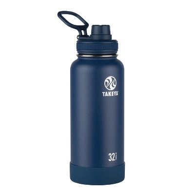 Takeya Actives 32oz Insulated Stainless Steel Bottle with Insulated Spout Lid - Navy