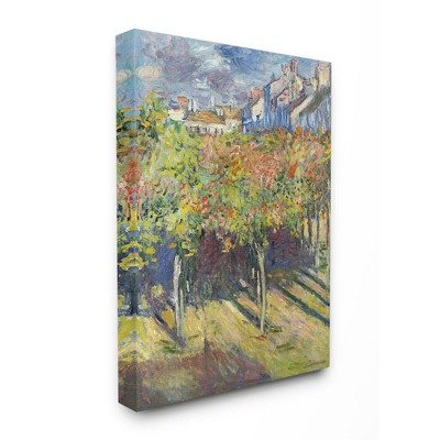 Stupell Industries City Orchard Green Blue Classic Monet Painting