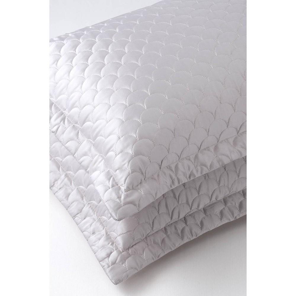Image of King Quilted Pillow Sham Pewter - Nikki Chu