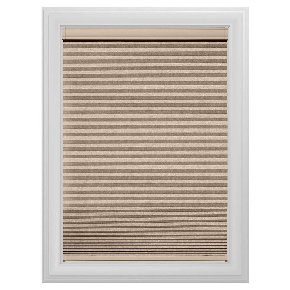 Cordless Blackout Cellular Shade Slotted Window Blind Sandstone 47
