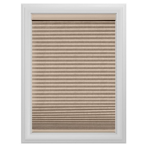 Cordless Blackout Cellular Shade Slotted Window Blind Sandstone 33