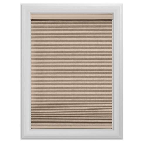 Cordless Blackout Cellular Shade Slotted Window Blind Sandstone 33
