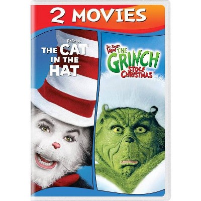 How The Grinch Stole Christmas / The Cat in the Hat (DVD)(2019)