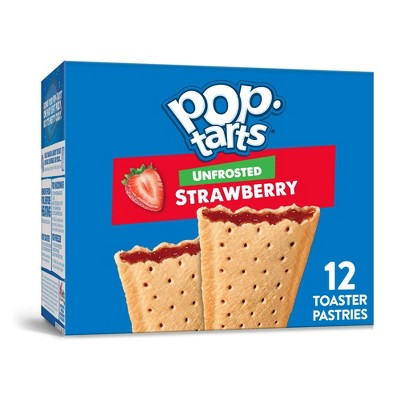 Kellogg's Pop-Tarts Unfrosted Strawberry Pastries - 12ct/20.31oz
