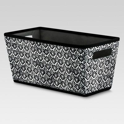 Fabric Quarter Bin - Black Geometric - Threshold™