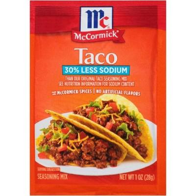 McCormick Taco Seasoning Mix 30% Less Sodium - 1.25oz