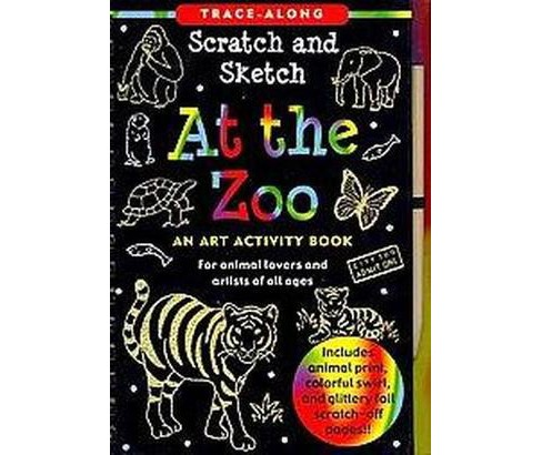 At the Zoo Scratch and Sketch Trace-Along : An Art Activity Book for Animal Lovers and Artists of All - image 1 of 1