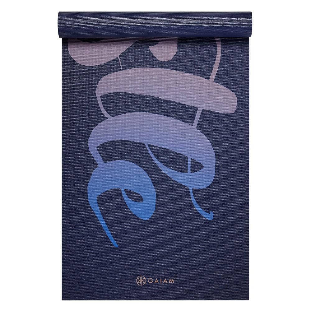 Gaiam Hustle Yoga Mat (6mm) - Blue