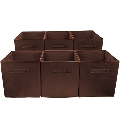 Sorbus Cube Storage Box Brown - image 1 of 5