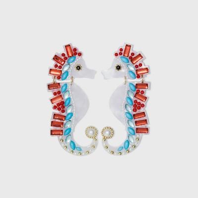 SUGARFIX by BaubleBar Seahorse Drop Earrings - White