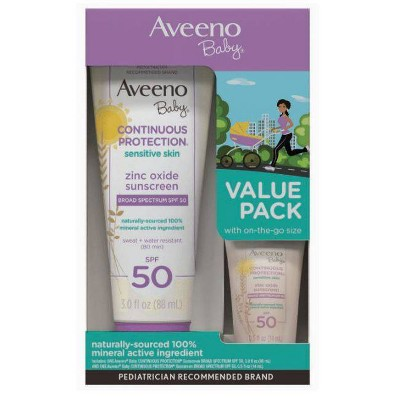 Aveeno Baby Continuous Protect Sunscreen with SPF 50 - 3.5 fl oz