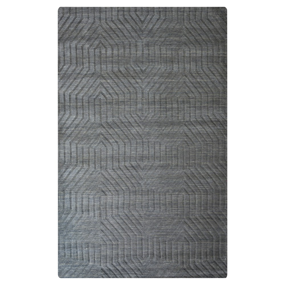 8'X10' Solid Area Rug Dark Gray - Rizzy Home